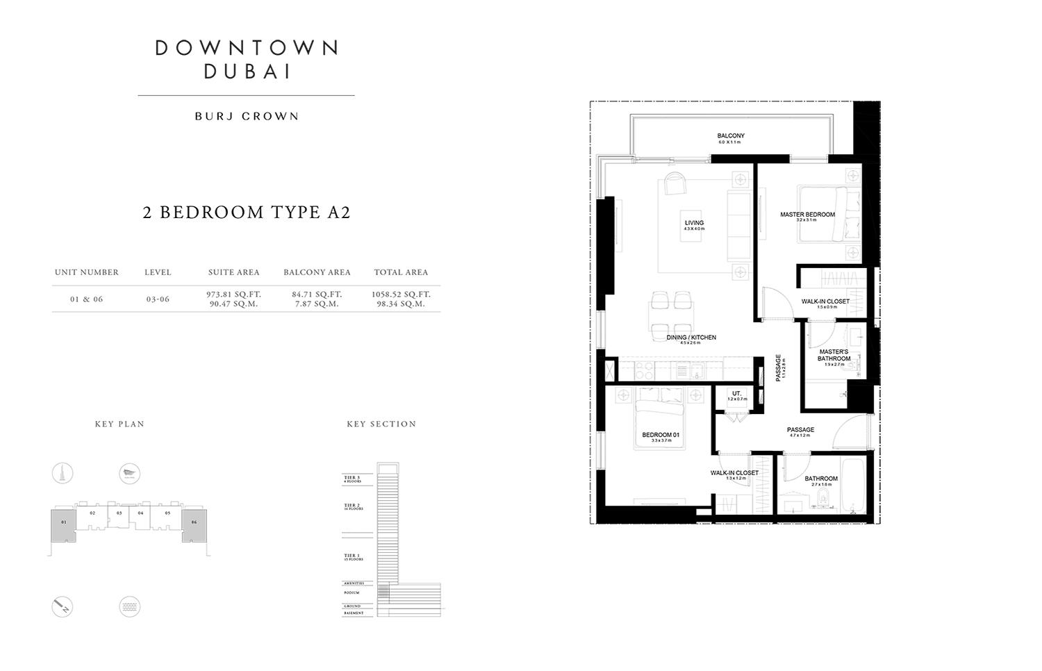 emaar burj crown floor plans
